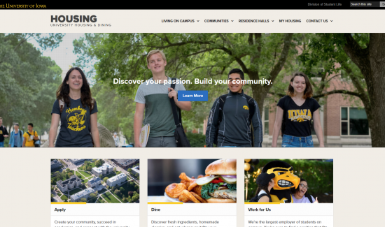 University Housing launches new website